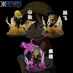 One Piece Luffy Sanji Zoro Cosplay Cartoon Model Toys Statue Collection Anime Action PVC Figure