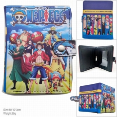 One Piece Printing Anime PU Leather Fold Short Wallet