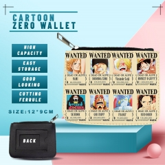 6 Styles One Piece Anime Zero Wallet and Purse
