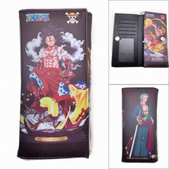 One Piece Printing Anime PU Leather Fold Long Wallet and Puse