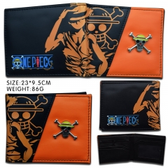 One Piece Anime PU Short Wallet and Purse