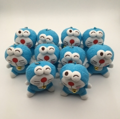 11CM 10pcs/Set Doraemon Anime Plush Keychain