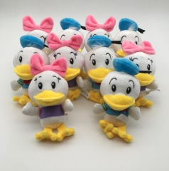 13CM 10pcs/Set Disney Donald Duck Anime Plush Keychain