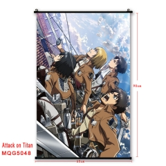 9 Styles Attack on Titan Japanese Cartoon Cosplay Anime Wallscrolls 60*90CM