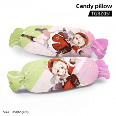 Genshin Impact Klee Cartoon Cosplay Candy Shape Plush Stuffed Doll Cushion Pillow