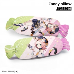 Genshin Impact Diona Cartoon Cosplay Candy Shape Plush Stuffed Doll Cushion Pillow