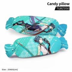 Genshin Impact Xiao Cartoon Cosplay Candy Shape Plush Stuffed Doll Cushion Pillow