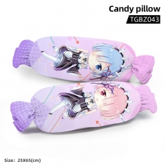 Re: Zero Kara Hajimeru Isekai Seikatsu Cartoon Cosplay Candy Shape Plush Stuffed Doll Cushion Pillow