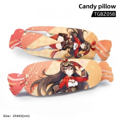 Genshin Impact Amber Cartoon Cosplay Candy Shape Plush Stuffed Doll Cushion Pillow
