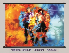 2 Styles One Piece Cosplay Cartoon Wall Scrolls Decoration Anime Wallscrolls