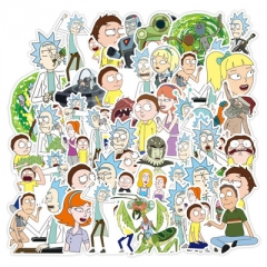 100PCS Different Designs Rick and Morty Cartoon Funny Anime Stickers