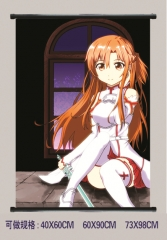 11 Styles Sword Art Online | SAO Cosplay Cartoon Wall Scrolls Decoration Anime Wallscrolls