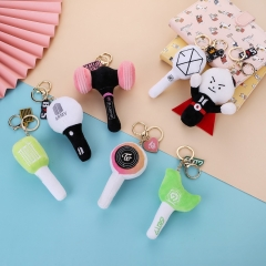 7 Styles K-POP BTS/GOT7/EXO/TWICE/BLACKPINK/NCT Plush Toy Keychain