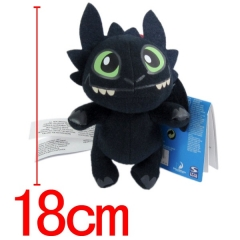 How to Train Your Dragon Toothless Anime Plush Toy (18cm)