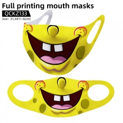 SpongeBob SquarePants Mask Anime Face Mask Can Be Customized