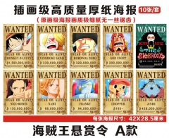 11 Styles One Piece Reward Anime Paper Poster (10pcs/set)