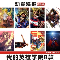 14 Styles My Hero Academia Cartoon Printing Anime Paper Poster (8pcs/set)