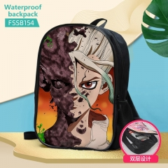 2 Styles Dr.STONE Anime Custom Design Cosplay Cartoon Waterproof Anime Backpack Bag