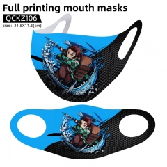 8 Styles Demon Slayer: Kimetsu no Yaiba Mask Anime Face Mask Can Be Customized