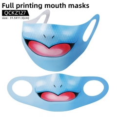 3 Styles Pokemon Mask Anime Face Mask Can Be Customized
